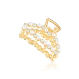 Klamry do włosów perełka kryształ 5cm SZ222