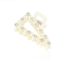 Klamry do włosów perełka kryształ 5cm SZ223