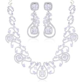 Komplet biżuterii ślubnej Xuping - SKO103