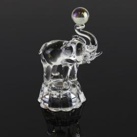 Przycisk szklany - słonik PS19