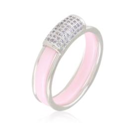 Pierścionek ceramiczny - różowy - Xuping PP2971