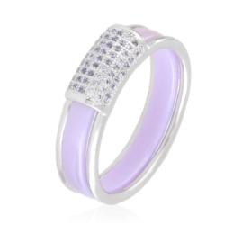 Pierścionek ceramiczny - liliowy - Xuping PP2972