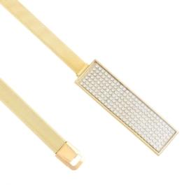 Pasek damski - sprężynka z kryształkami BL201