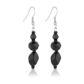 Kolczyki perła czarna szlifowana - PEK127