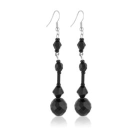 Kolczyki perła czarna szlifowana - PEK128