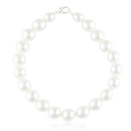 Bransoletka czeska perła biała - BRA3281