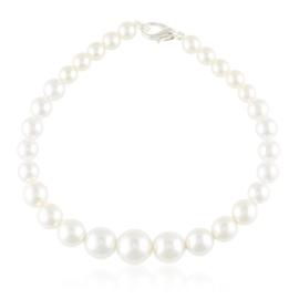 Bransoletka czeska perła biała - BRA3286