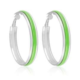 Kolczyki koła 6cm - zielone EA3705