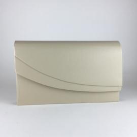 Torebka damska kopertówka wizytowa kremMAT TD572