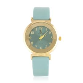 Zegarek damski na pasku - zielony Z2153