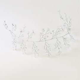 Ślubny wianek do włosów - 30cm - ŚW15
