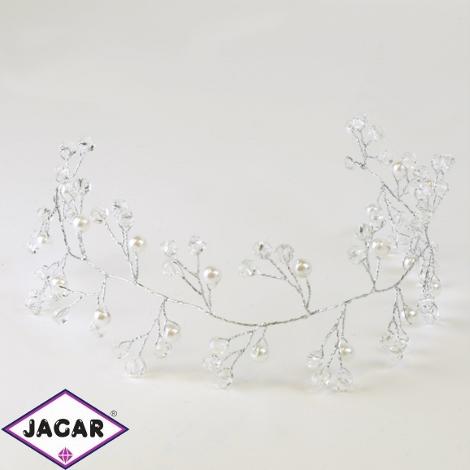 Ślubny wianek do włosów - 30cm - ŚW16
