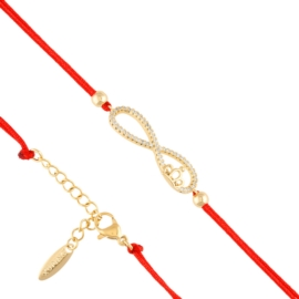 Bransoletka na czerwonym sznurku Xuping BP7799