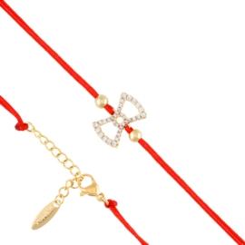 Bransoletka na czerwonym sznurku Xuping BP7801