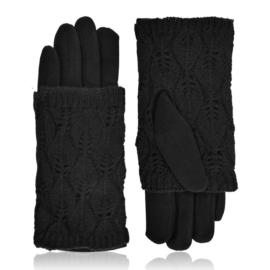 Rękawiczki zimowe podwójne - czarne - RK568