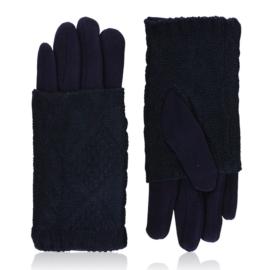Rękawiczki zimowe podwójne - granatowe - RK569