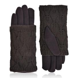 Rękawiczki zimowe podwójne - brązowe - RK570