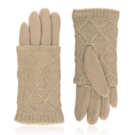 Rękawiczki zimowe podwójne - beżowe - RK571