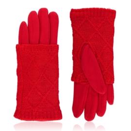 Rękawiczki zimowe podwójne - czerwone - RK573