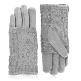 Rękawiczki zimowe podwójne - j. szare - RK574