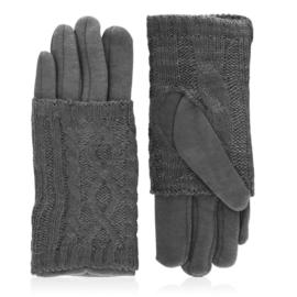 Rękawiczki zimowe podwójne - c. szare - RK575