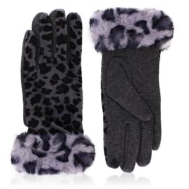 Rękawiczki damskie w panterkę - RK578