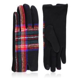 Rękawiczki damskie w kratę - RK579