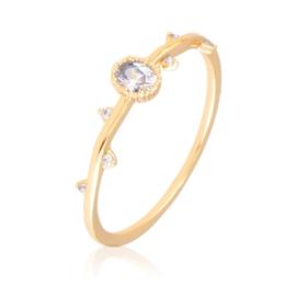 Pierścionek z kryształkami - Xuping PP3010