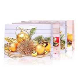 Torebki prezentowe świąteczne 32x26cm 12szt TP527