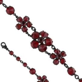 Bransoletka czeskie kryształy - BRA3292