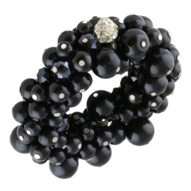 Bransoletka perełkowa - czarna BRA3301