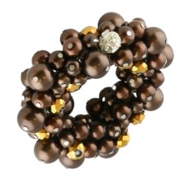 Bransoletka perełkowa - brązowa BRA3303