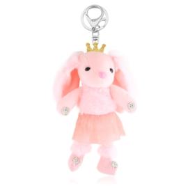 Brelok maskotka króliczek - różowy - PU278