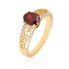 Pierścionek greek - czerwony - Xuping PP3020