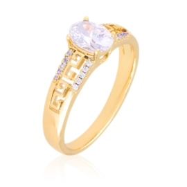 Pierścionek greek - kryształ - Xuping PP3021