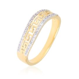 Obrączka greek z kryształkami - Xuping PP3022