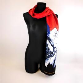 Szalik damski w kwiaty 180x70cm - WO1193