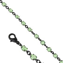 Bransoletka czeskie kryształy - zielona BRA3315