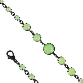 Bransoletka czeskie kryształy - zielona BRA3316
