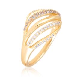 Pierścionek codzienny z kryształkami Xuping PP3033