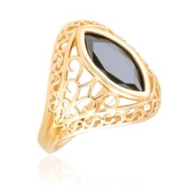 Pierścionek ażurowy - czarny Xuping PP3034