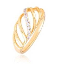 Pierścionek codzienny z kryształkami Xuping PP3036