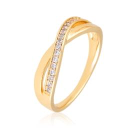 Pierścionek codzienny z kryształkami Xuping PP3037