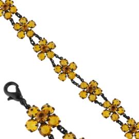 Bransoletka czeskie kryształy 1,5cm BRA3319