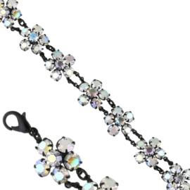 Bransoletka czeskie kryształy opal BRA3320