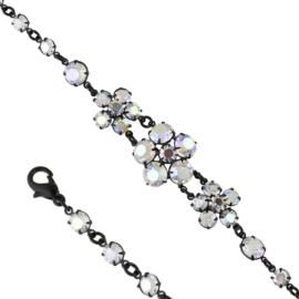 Bransoletka czeskie kryształy opal BRA3321