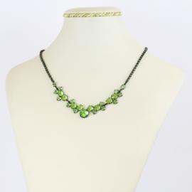Naszyjnik czeskie kryształy - zielony - NA2072