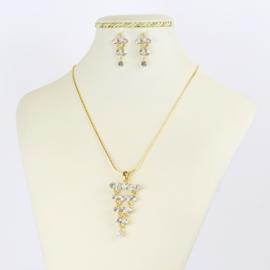 Komplet biżuterii z kryształkami KOM359