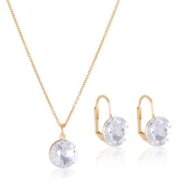 Komplet biżuterii z kryształkami PK556