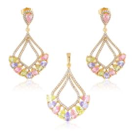 Komplet biżuterii z kryształkami Xuping PK557